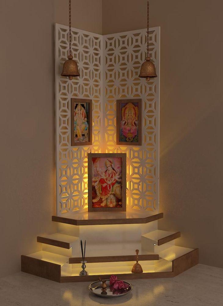 Best Pooja Room  Design by Interior Designer kamlesh maniya India
