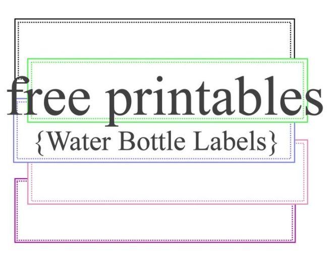 Baby water bottle label template free weddings