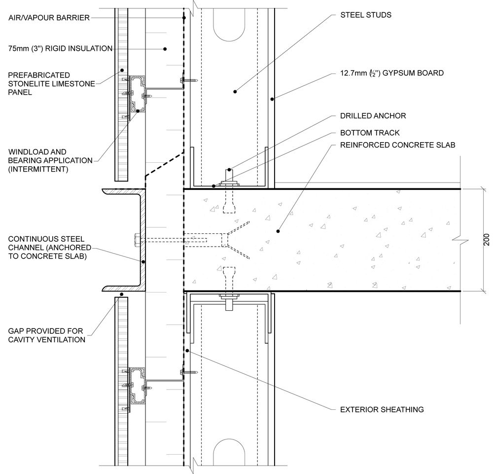 Curtain Wall Slab Detail Google Search