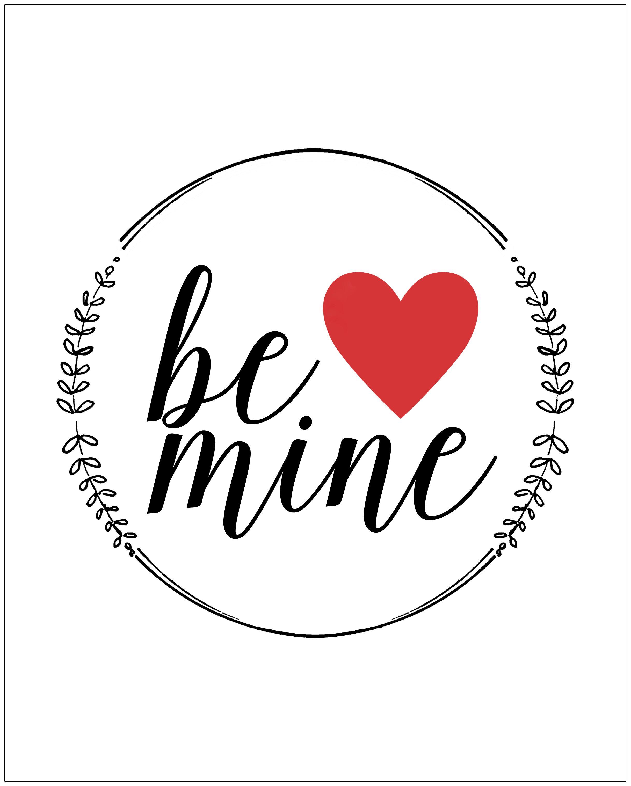 Be Mine Free Printable Valentine