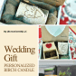 Beautiful and unique wedding present this personalized gift perfect