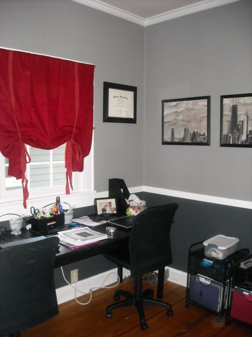 my new home office idea black white and gray maybe on commercial office space paint colors id=25309