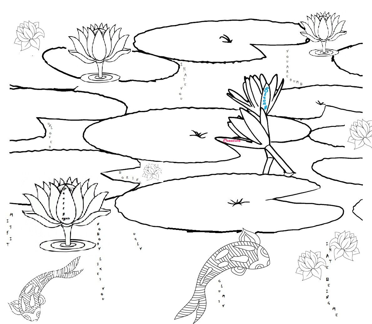 Printable Pond Habitat Coloring Page Sketch Coloring Page