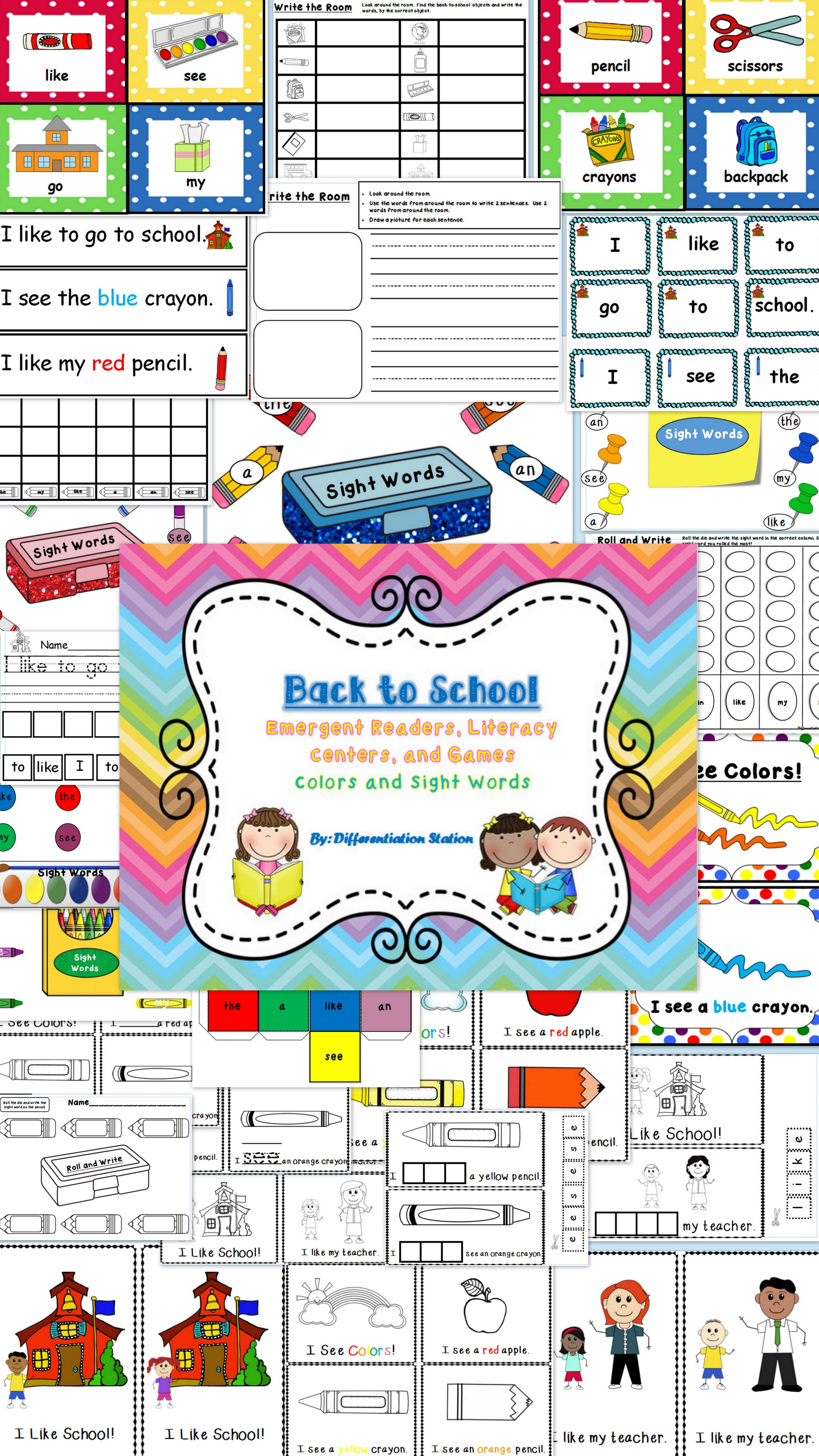 Back To School Emergent Readers Literacy Centers And