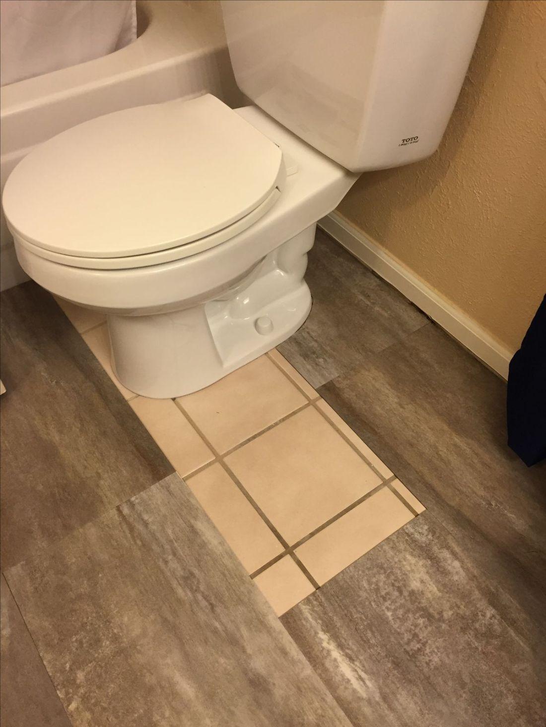 Diy luxury vinyl tile cover ugly old tile bathroom redo