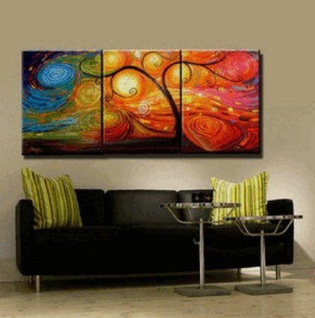 Abstract Wall Canvas Art Sets Painting For Home Decoration Hand Painted Oil Modern Large 4 Piece Unstretch And No