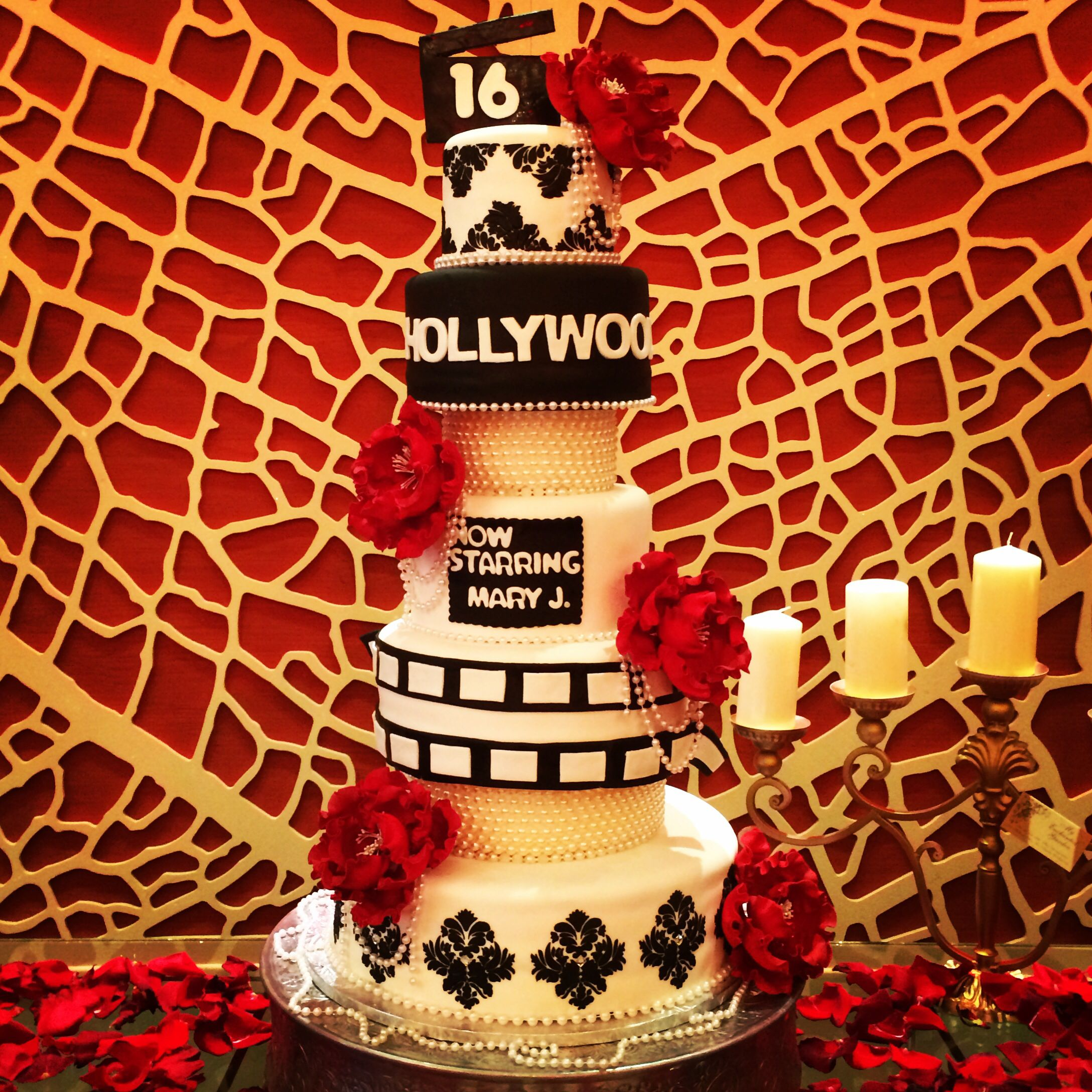 Old Hollywood Themed Sweet 16 Cake By Me