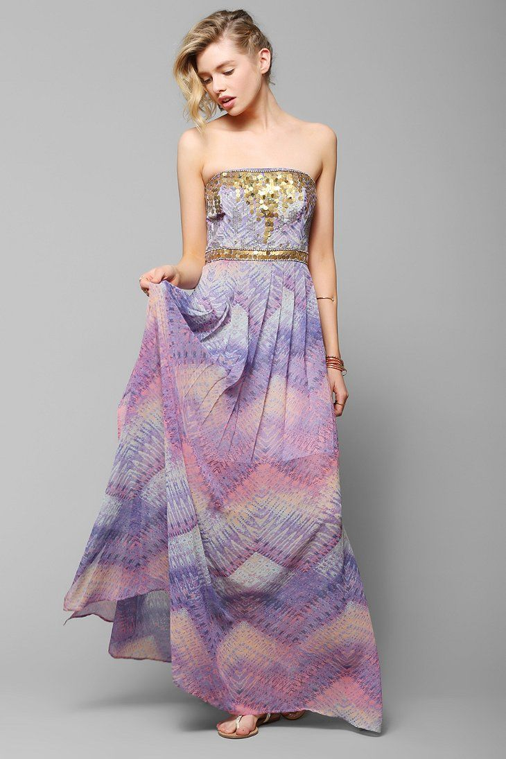 Ecote Treasure Trove Embellished Maxi Dress  clothing wish list