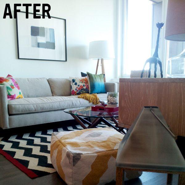 Dunham Sofa Living Room Furniture West Elm Modern Brooklyn Apartment