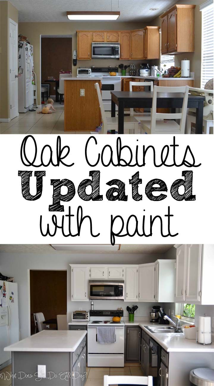 painted kitchen cabinets before and after diy nice to see how it looks on older cabinets that on kitchen cabinets painted before and after id=22835