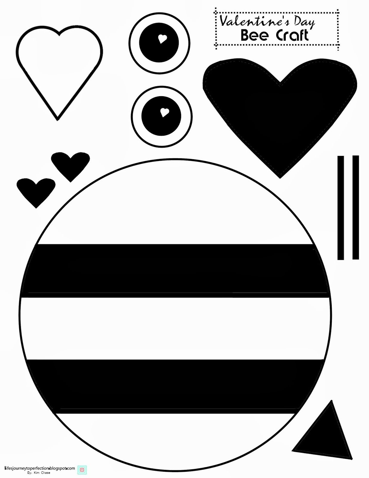 Valentine S Day Bee Craft Printable