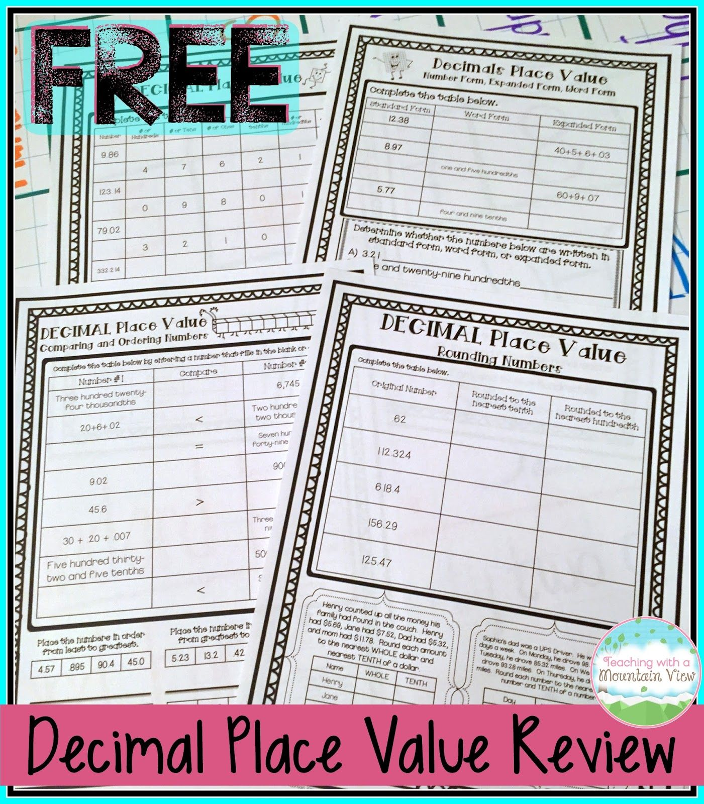 The 25 Best Rounding Decimals Worksheet Ideas On