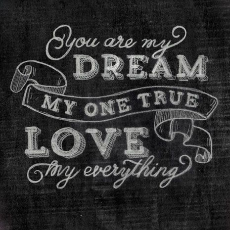 My One True Love Print #laylagrayce #quote #valentinesday ...