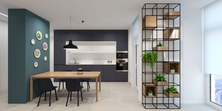 Modern Minimalist Home Design Exposed Brick and Wooden Wall Decor