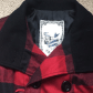 Flannel jacket with fur inside  Plaid flannel jacket with sweater rib details  Flannel jacket