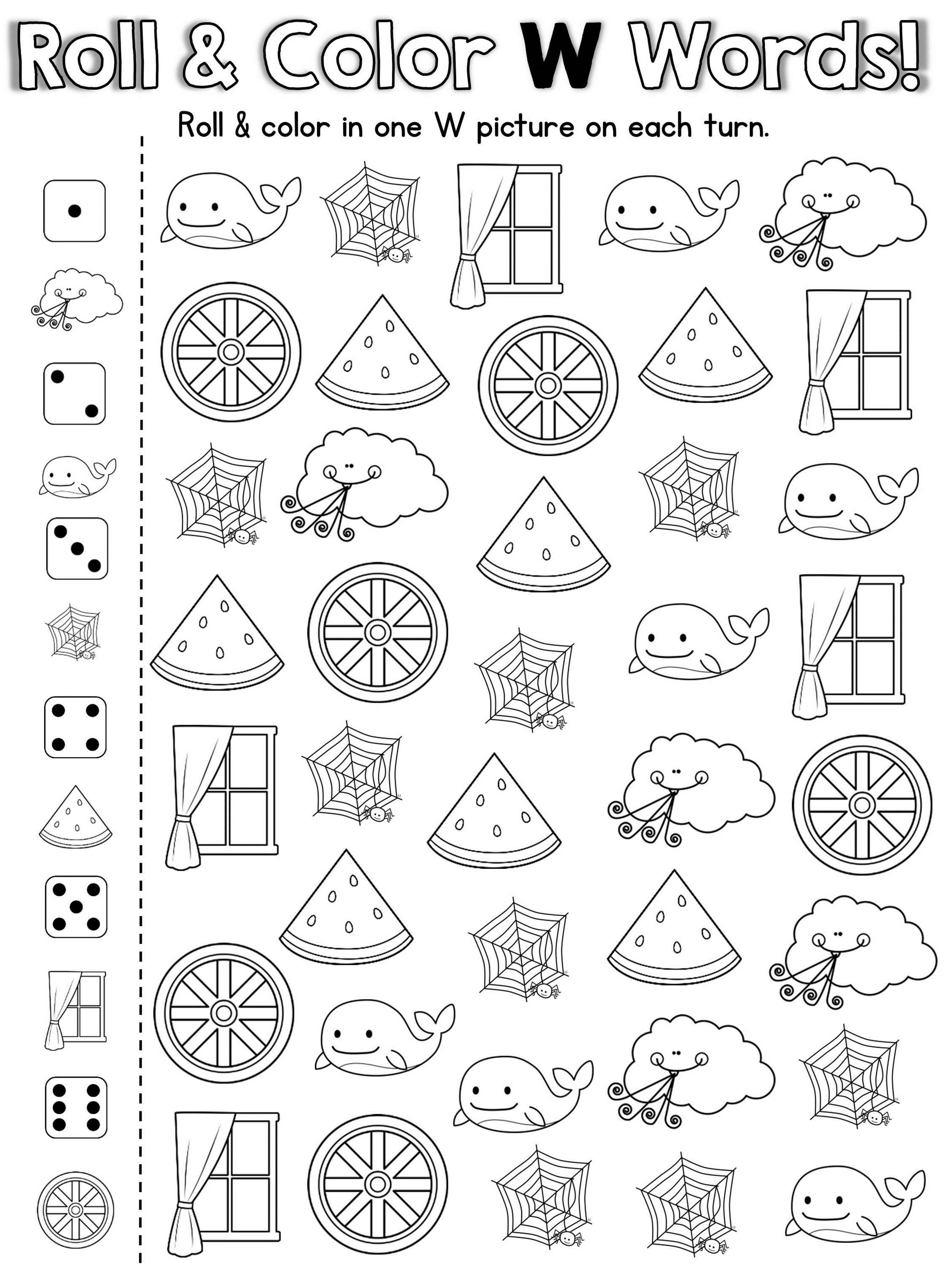 20 Fun Ready To Print Games To Practice The Letter W