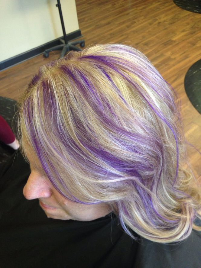 Purple highlights in blonde hair the best blonde hair 2017 purple blonde highlights hairstyles blondes pmusecretfo Image collections