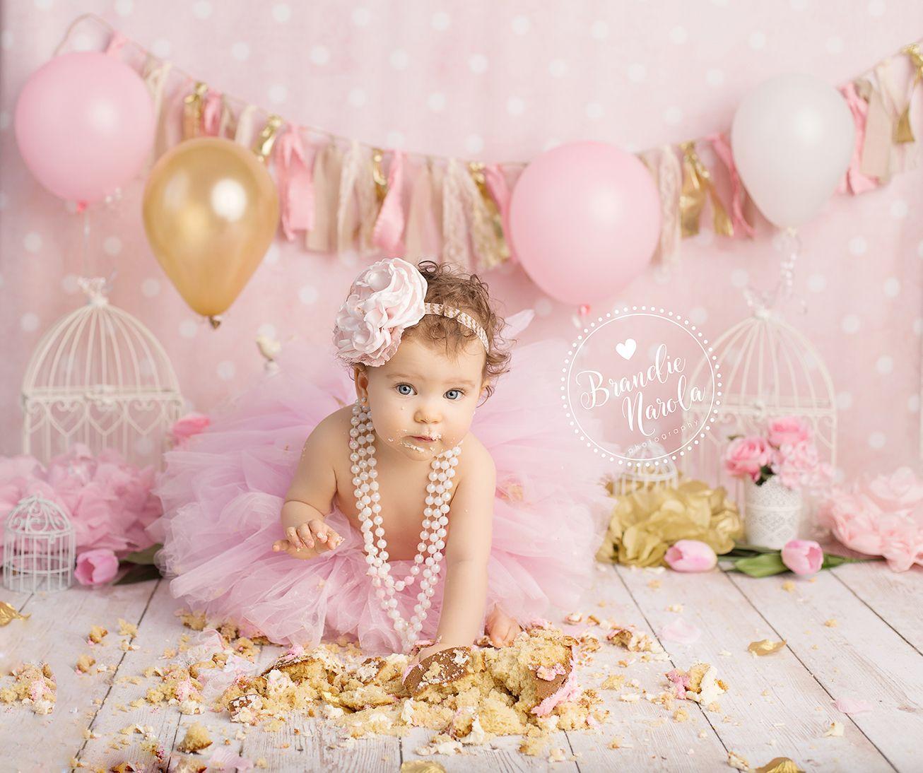 Cake Smash Girl Cake Smash Pink And Gold Cake Smash
