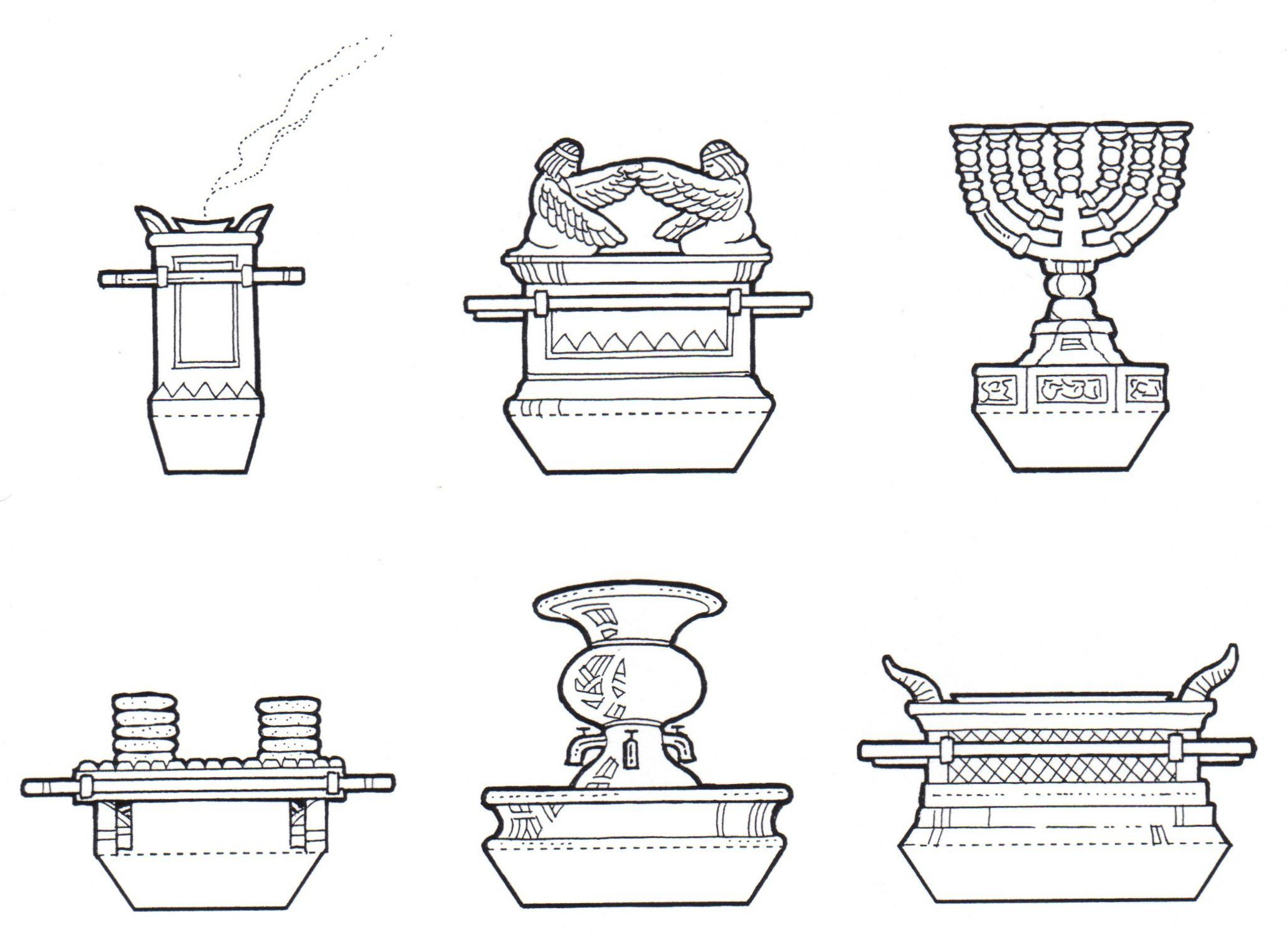 Ark Of The Covenant And Items Of Worship From The