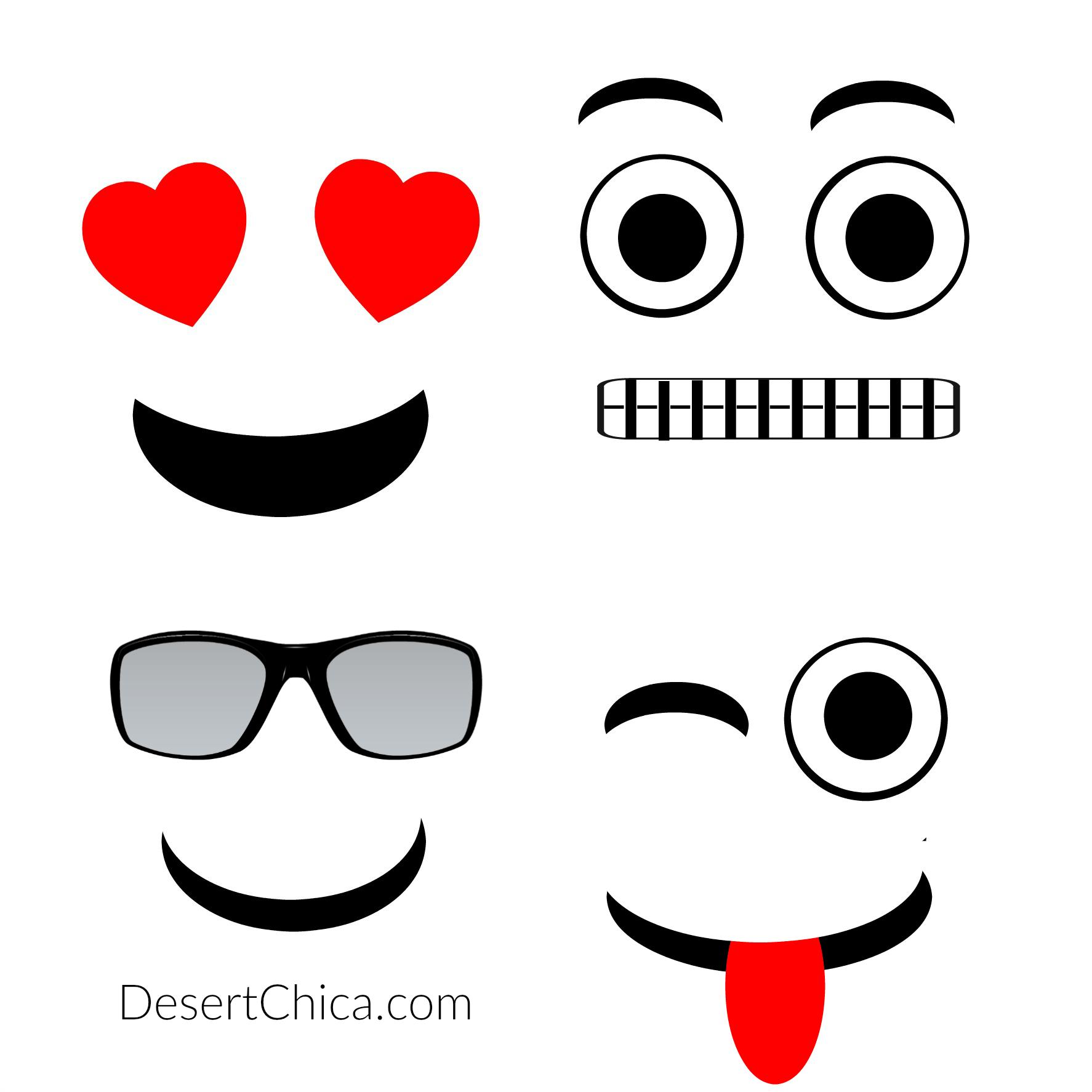 Diy Emoji Faces Template
