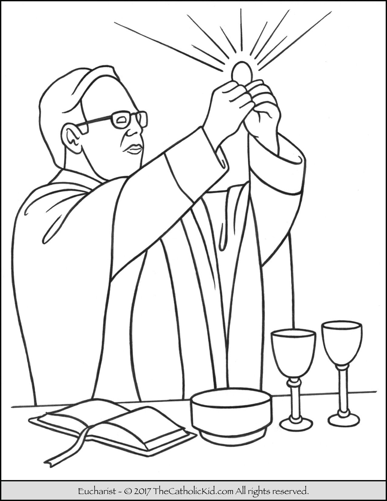 Sacrament Of Holy Communion The Eucharist Coloring Page