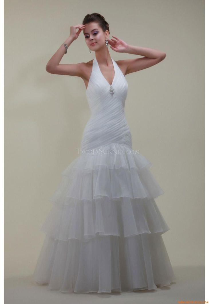 Elegant Halter Ball Gown Floorlength Wedding Dress China Venus