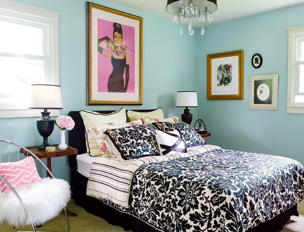 Small Guest Bedroom Hollywood Glamour Decor