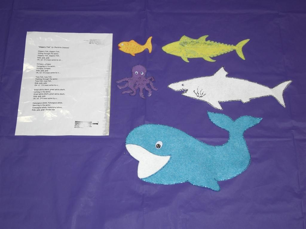 Slippery Fish Felt Board Story To Go With Our Pdf Rhyme On 100