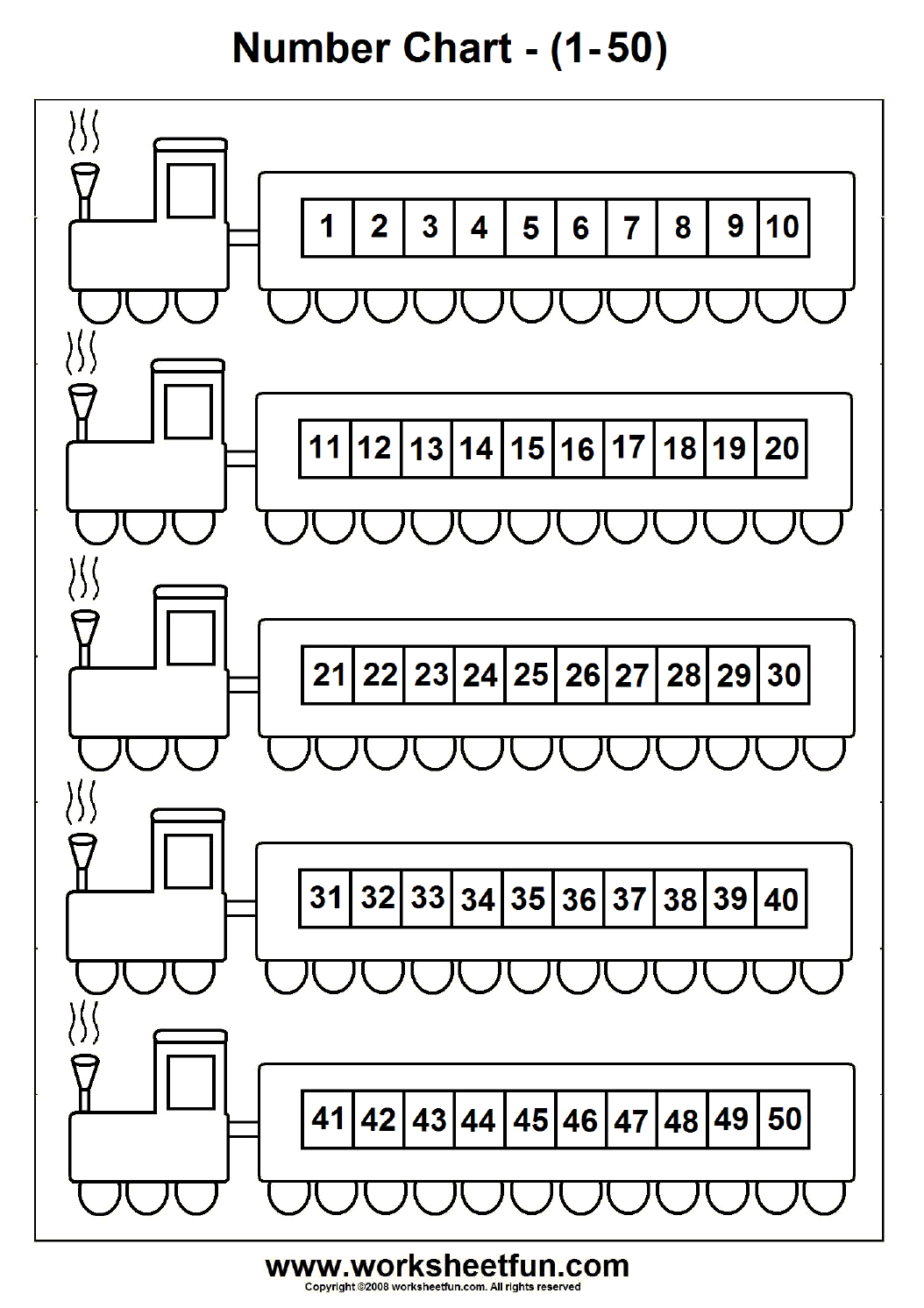 Number Chart 1 50