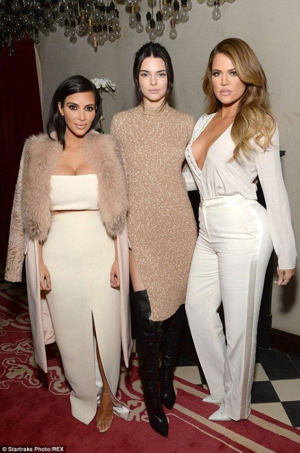 Terrific trio: Kendall Jenner and Khloe Kardashian towered ...