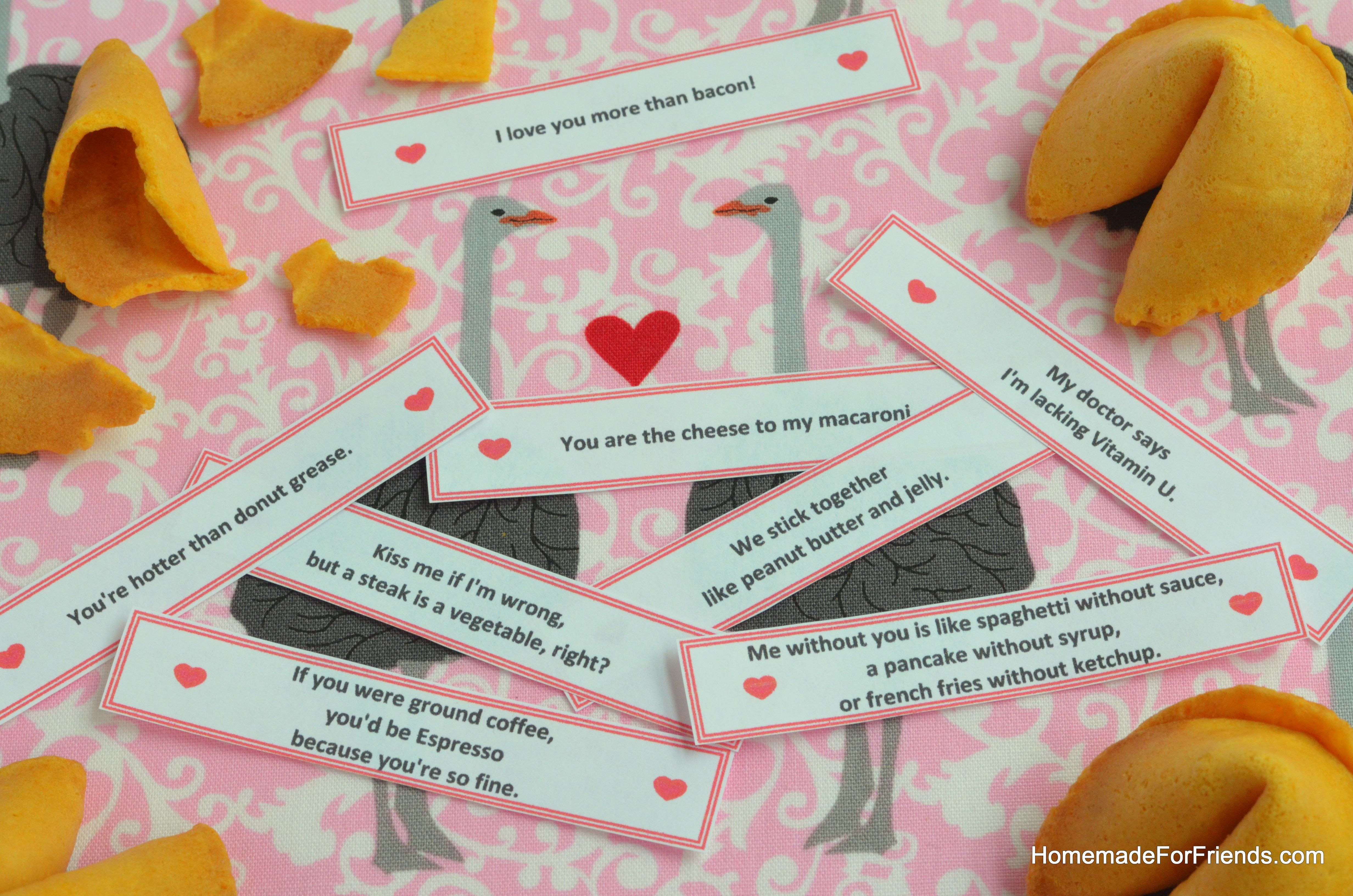 Romantic And Funny Quotes Great For Valentine S Day Fortune Cookies