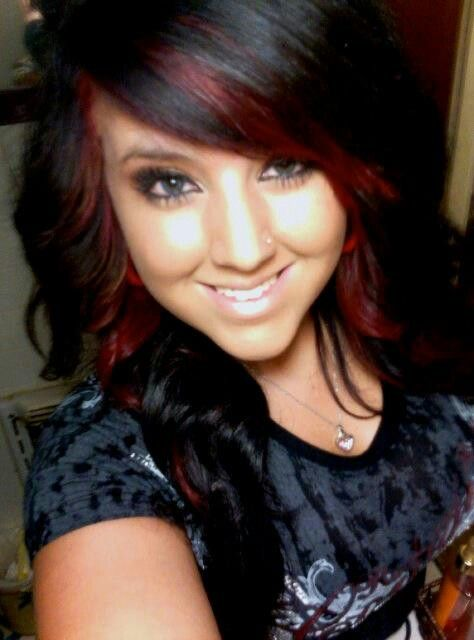 Black hair with dark red streaks the best black hair 2017 best 25 black hair red highlights ideas on pmusecretfo Choice Image