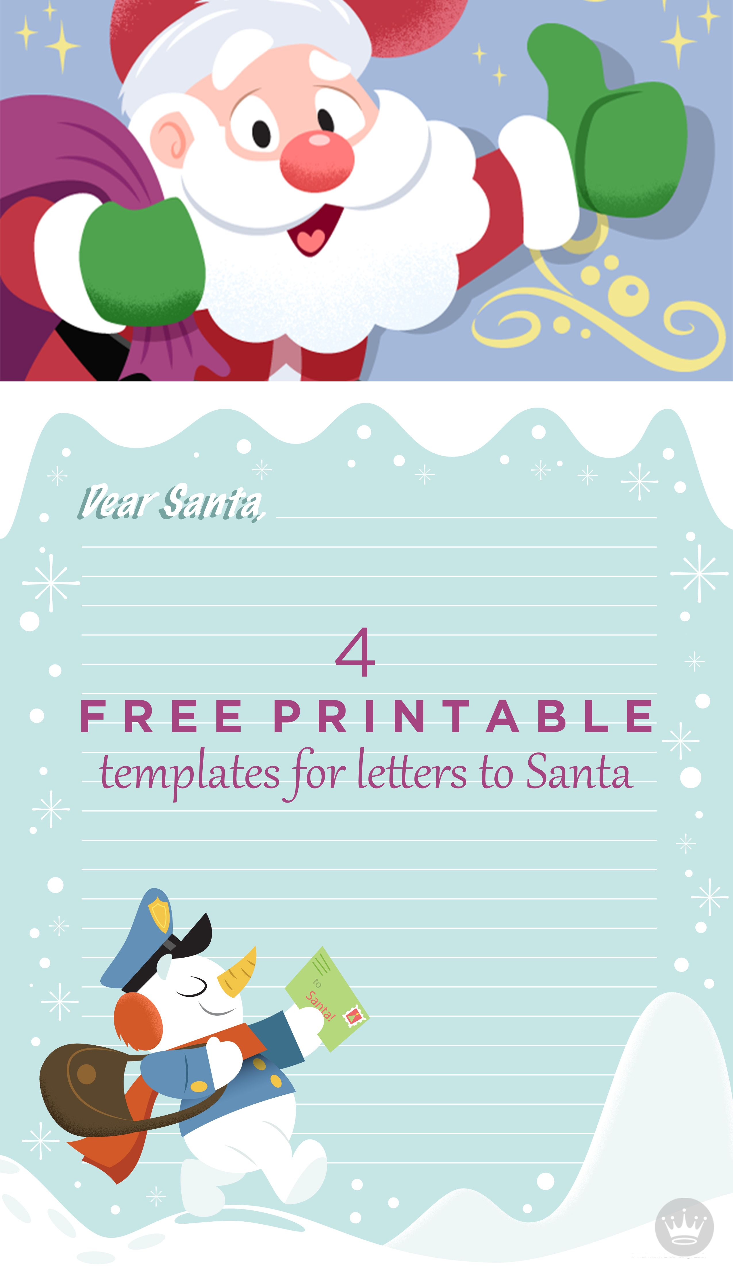 Dear Santa Free Printable Santa Letter Templates