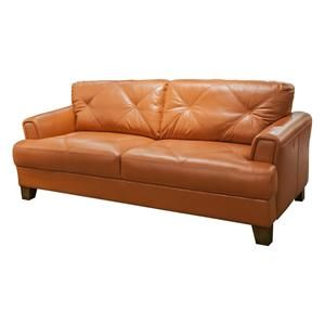 Tangerine Sofa Aico Mia Bella Sophia Leather Mansion Sofa In Tangerine Usa TheSofa
