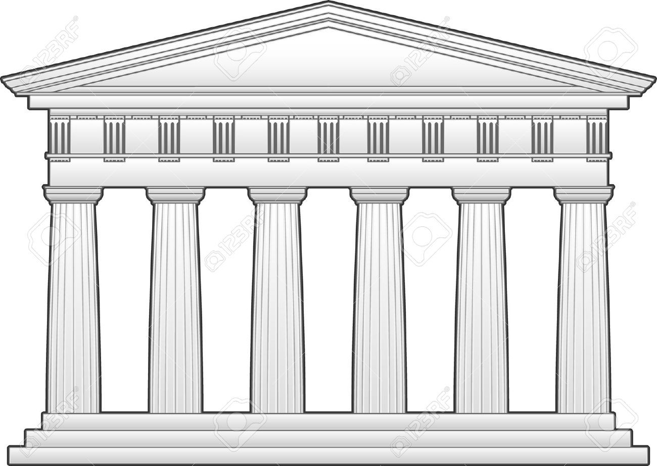 This Is An Outline Of The Parthenon A Doric Temple This Can Be Downloaded From