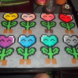 Mario Flower Perler Beads Pattern Gardening Flower And