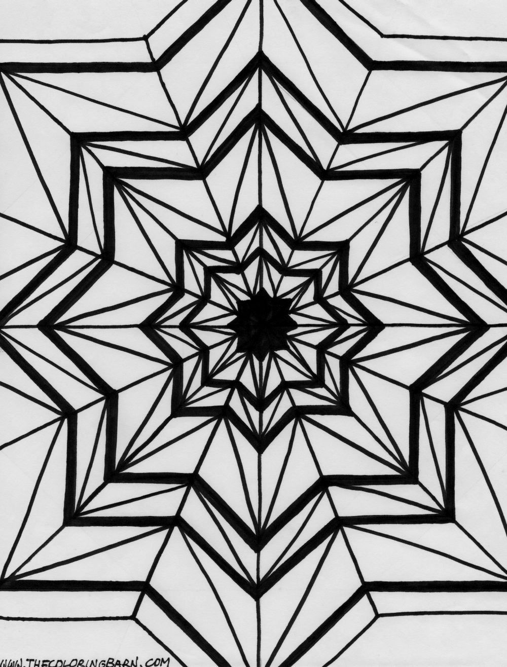 Kaleidoscope Coloring Pages Coloring Pages Pinterest