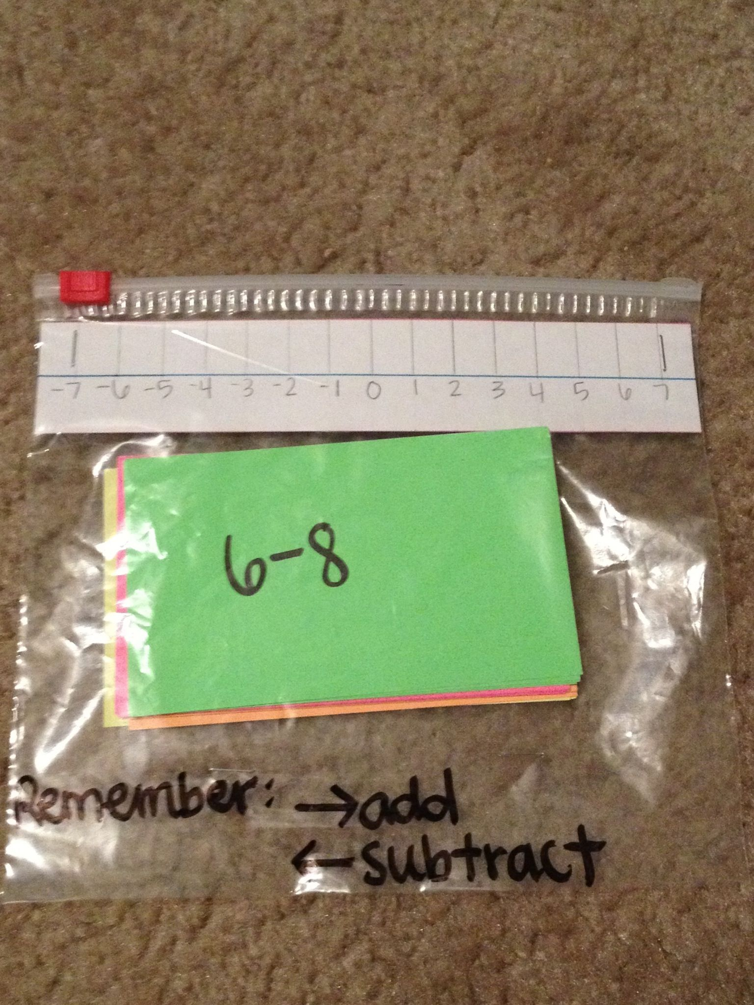 Sliding Math Bags Contain Simple Problems Using Negative Numbers Order Of Operation Problems