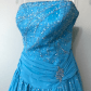 Cinderella blue prom gown blue colors prom and gowns