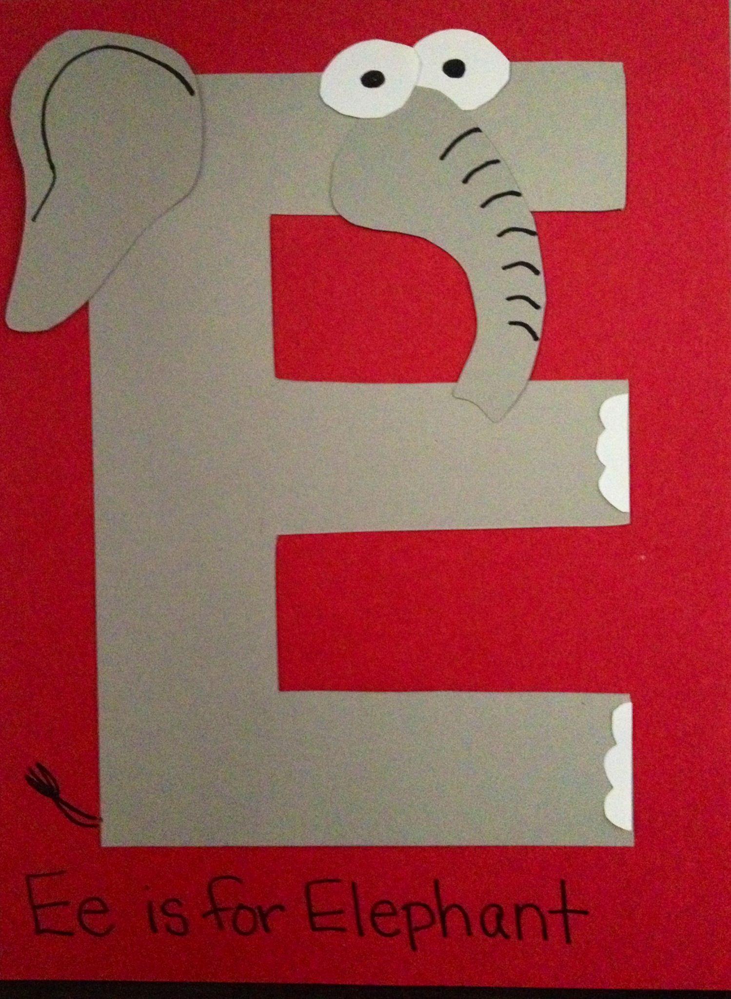 E Is For Elephant Prek Preschool Craft