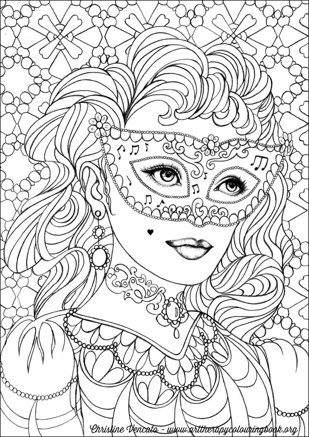 Free Coloring Page From Adult Coloring Worldwide. Art by ... | coloring pages for adults online printable
