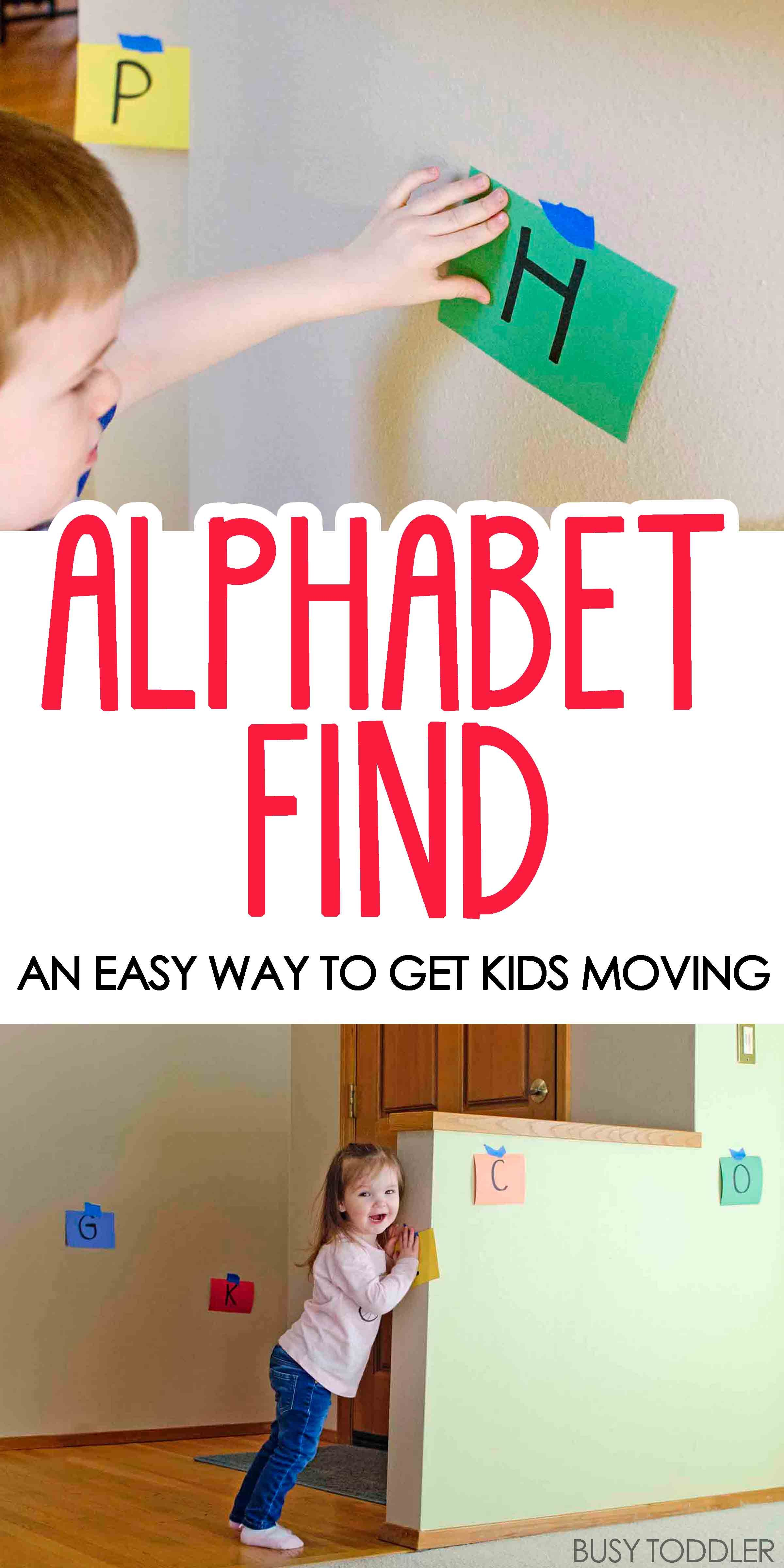 Alphabet Find Learning Activity