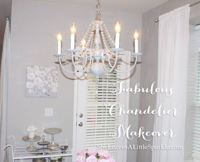 Fabulous Chandelier Makeover