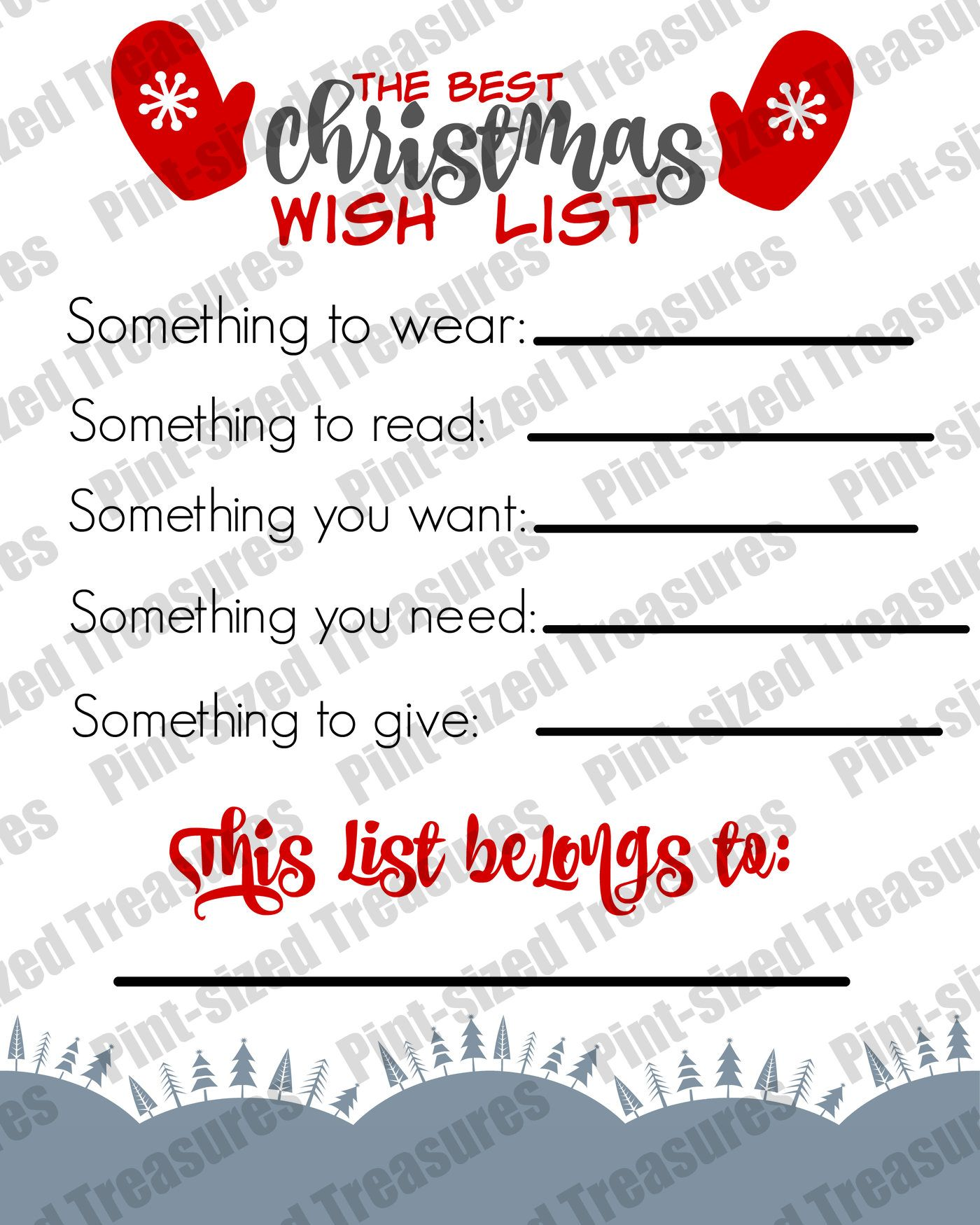 The Best Printable Christmas Wish List For Kids
