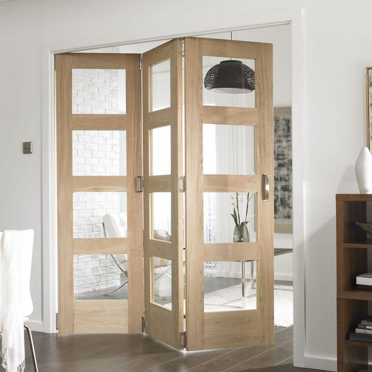 Oak Shaker Glazed Internal Room Divider Kitchen design Pinterest