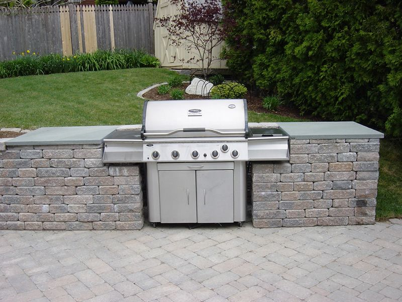 Outdoor Kitchen with Built in Grill Find Grill & Outdoor ... on Built In Grill Backyard id=80987