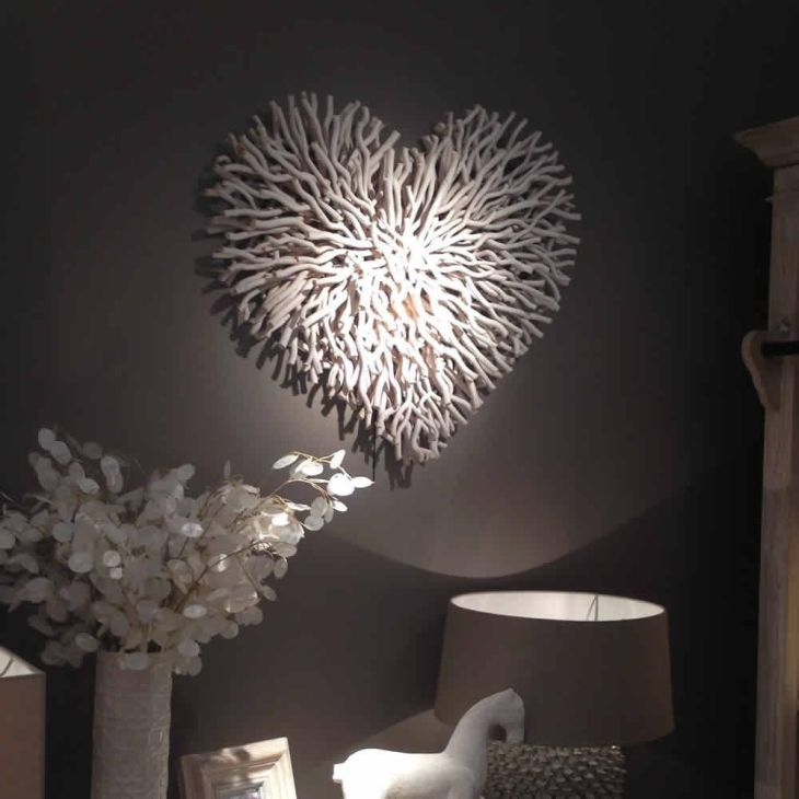 Large White Twig Wall Heart Large white White company and Walls