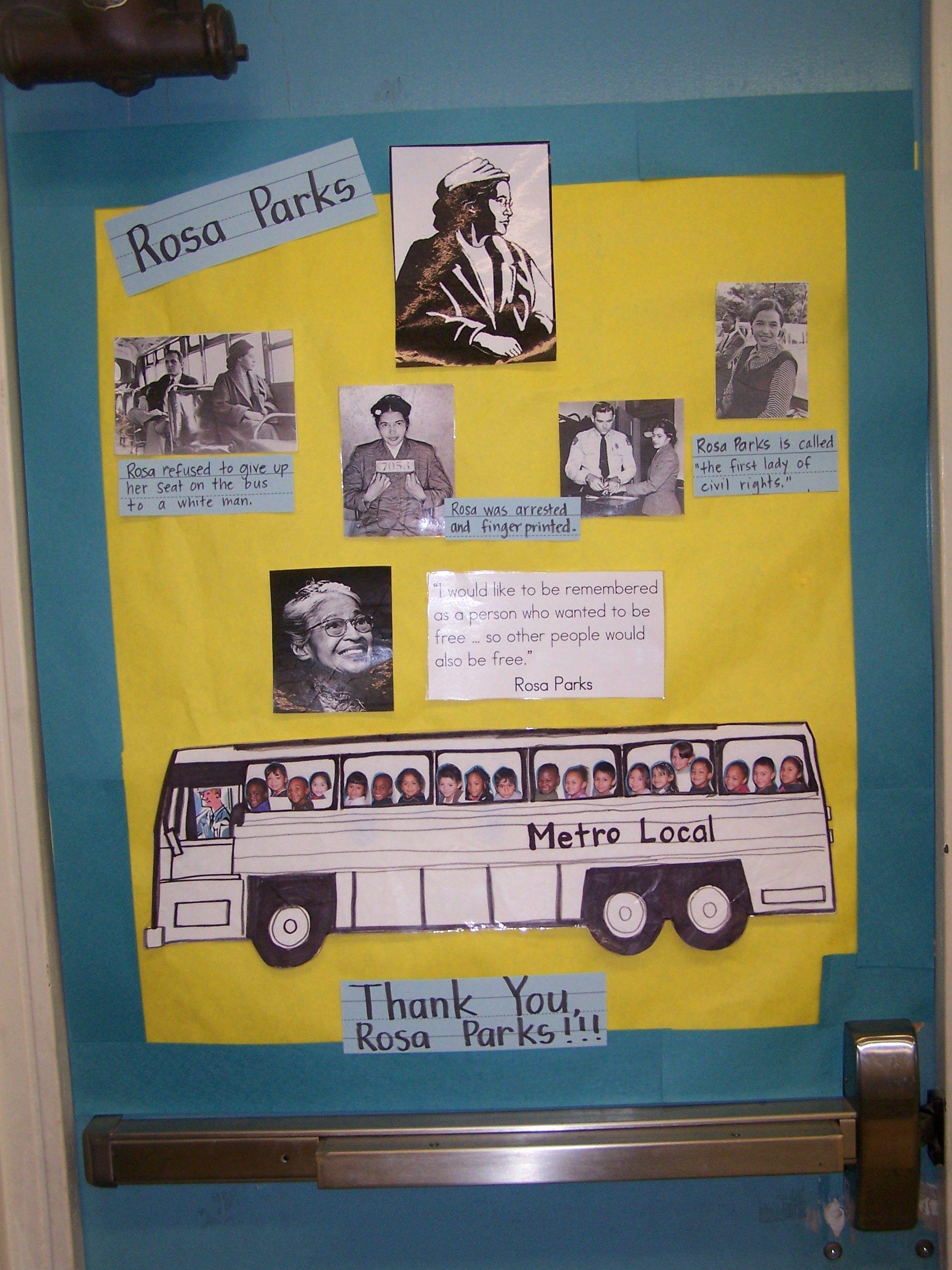 Rosa Parks Bulletin Board
