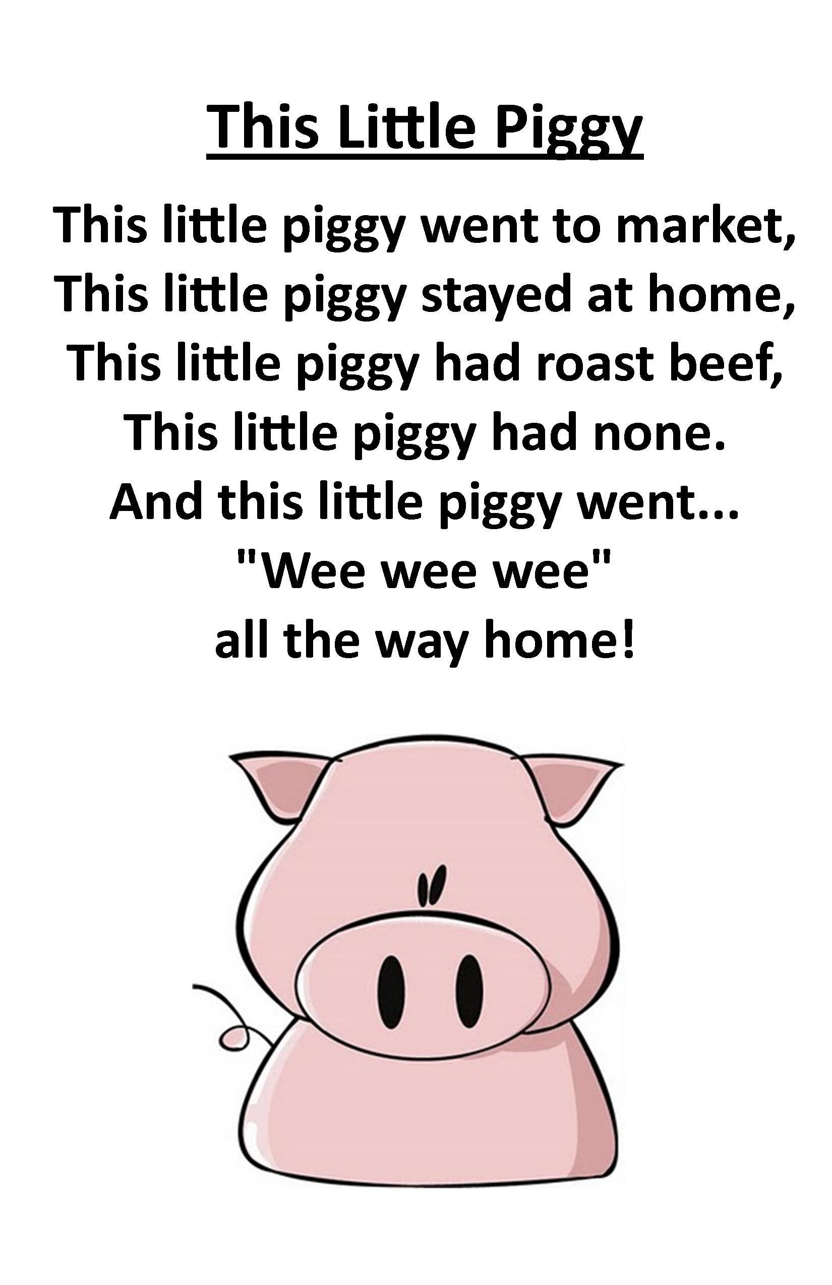 Itty Bitty Rhyme This Little Piggy