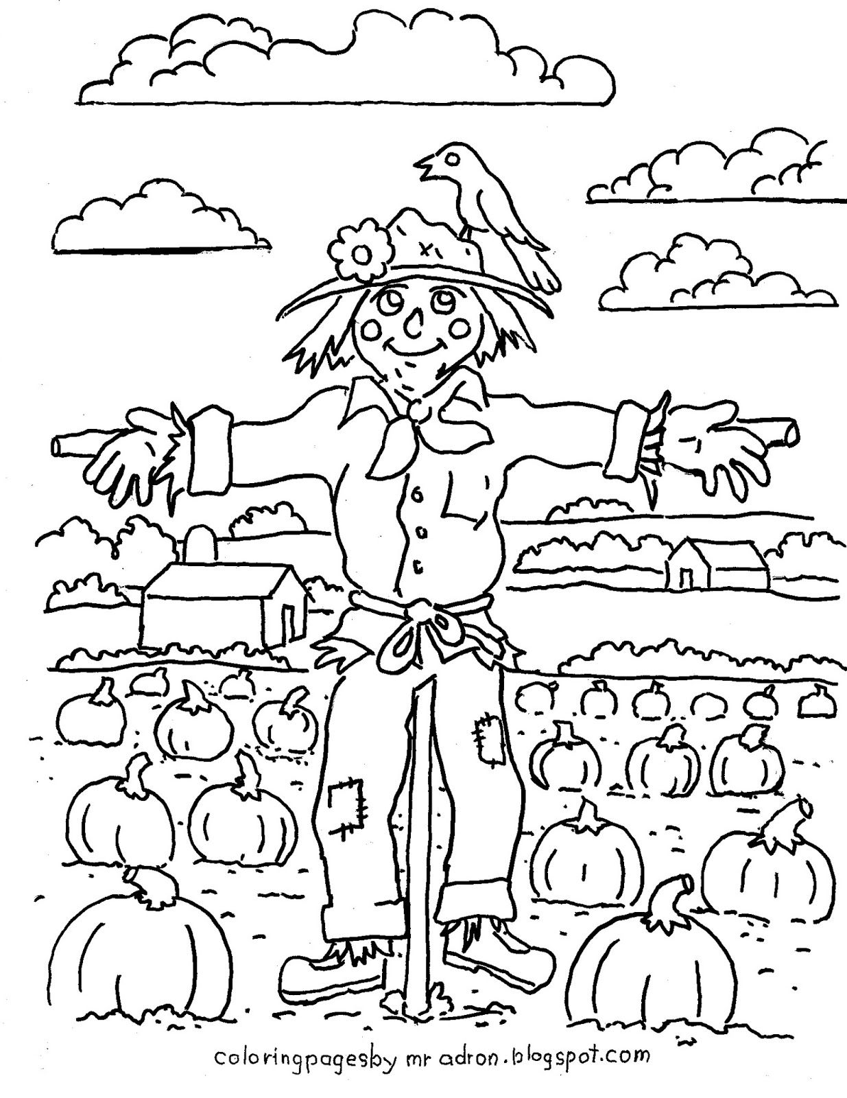 Coloring Pages For Kids By Mr Adron Printable Harvest